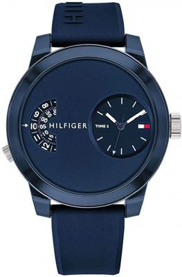 שעון יד טומי הילפיגר לגבר Tommy Hilfiger Denim Sport Silicone Men's Watch - 1791556